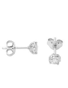 Diamond Invest collezione Rugiada orecchino in oro bianco e diamante ct. 0.40