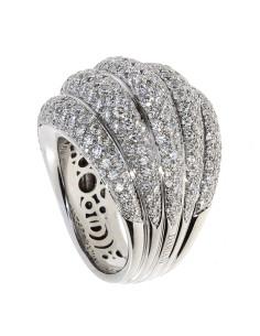 DAMIANI SPICCHI DI LUNA anello in oro bianco 18kt e diamanti 20077207