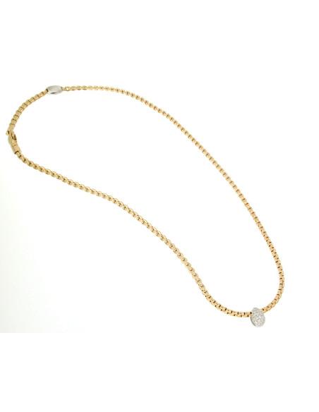 Fope Collana Flex'It Eka Tiny in oro Rosa e diamanti ref 735C-PAVE