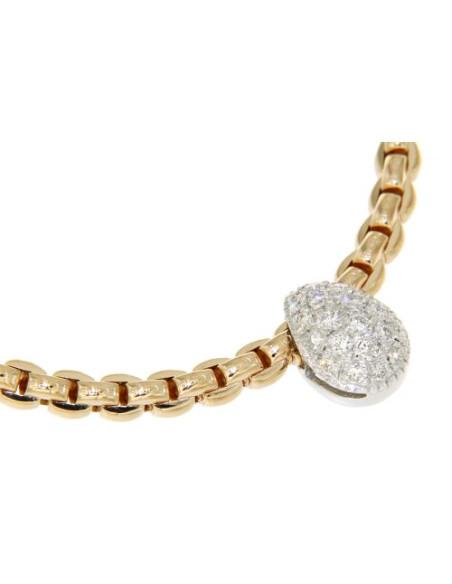 Diamanti Oro Pave In 735c Eka E Collana Rosa Flex'it Tiny Fope Ref zVpMUqSG