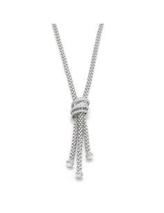 Fope Colana Flex'It Mia Luce in oro Bianco e diamanti ref 651C-PAVE