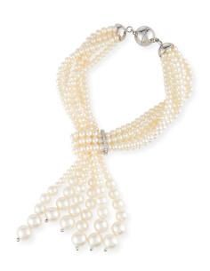 UTOPIA AQUA bracciale in oro bianco con diamanti e perla 4-8.5 ref: FWB2001S