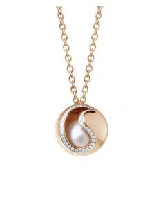 UTOPIA NIGHT FEVER collana in oro rosa con diamanti,tris di pietre intercambiabili e perla 11.10 ref: JNP4UB01