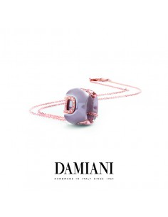 Damiani DIcon Collana in ceramica Cappuccino e oro rosa con diamanti (ct 0,15) Ref. 20072878