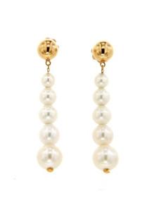 UTOPIA PERLAGE orecchini in oro rosa con diamanti e perla 4.90-8.00 ref: JPO5R01