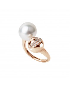 UTOPIA NIGHT FEVER anello in oro rosa con diamanti e perla 11.40 ref: JNA1UB01