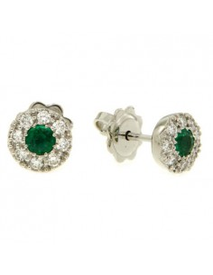 Crivelli Collezione Smeraldi Orecchini in oro, diamanti e smeraldo 117-OR277