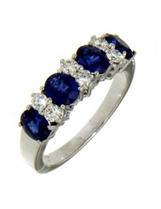 Crivelli Collezione Zaffiro Anello in oro, diamanti e zaffiri 230-338-248