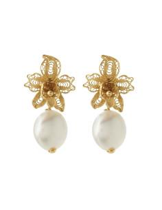 Misis Marisol Orecchini Argento placato oro,  perle d'acqua dolce OR08730