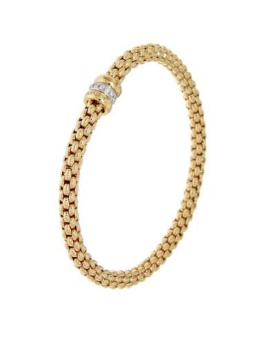 Fope Armband Flexit Solo In Gold Und Diamanten Ref 621b Bbr