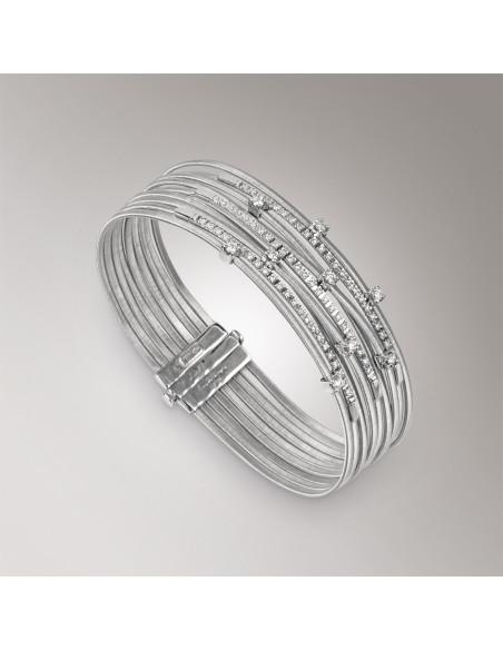 Marco Bicego Goa Bracciale oro bianco e diamanti ref: BG662-B2
