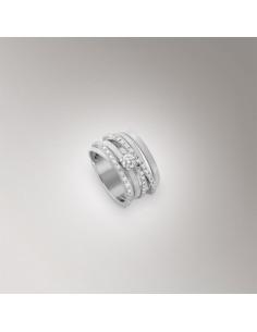 Marco Bicego Goa Anello oro bianco e diamanti ref: AG316-B-B3