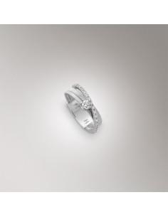 Marco Bicego Goa Anello oro bianco e diamanti ref: AG314-B-B2