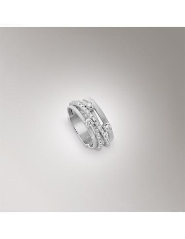 Marco Bicego Goa Anello oro bianco e diamanti ref: AG315-B-B4