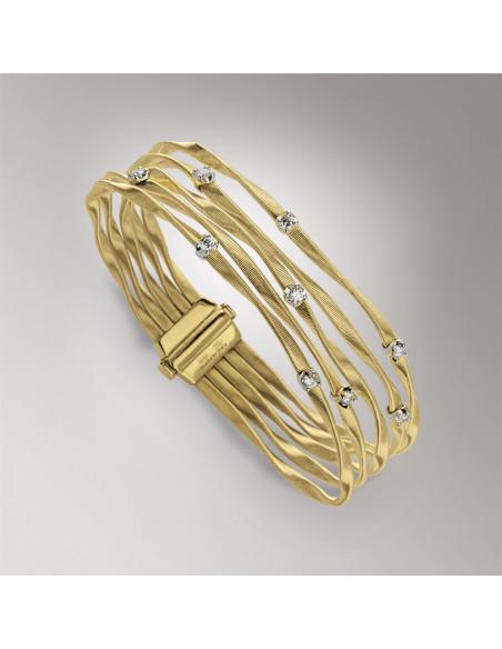 Marco Bicego Marrakech Bracciale oro giallo e diamanti ref: BG340-B