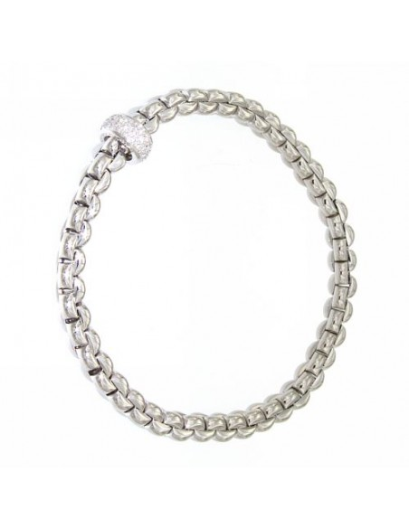Fope Bracciale Flex'It Olly in oro Bianco e diamanti ref 721B-PAVE