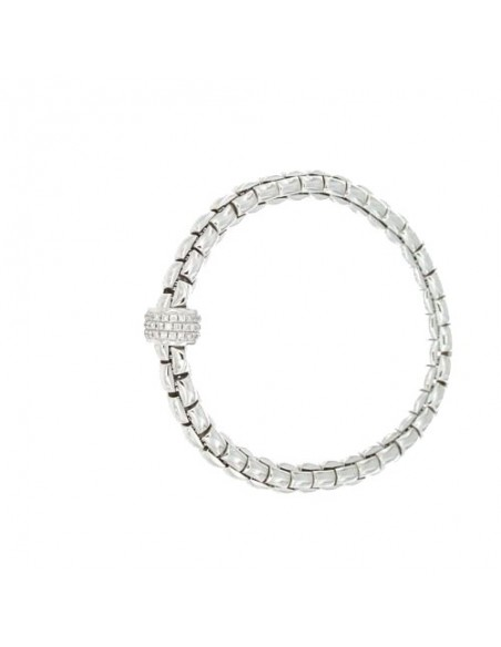Fope Bracciale Flex'It Eka in oro Bianco e diamanti ref 704B-PAVE