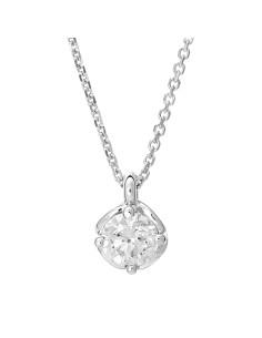 Diamond Invest collezione Rugiada collana oro bianco e diamante ct. 0.51