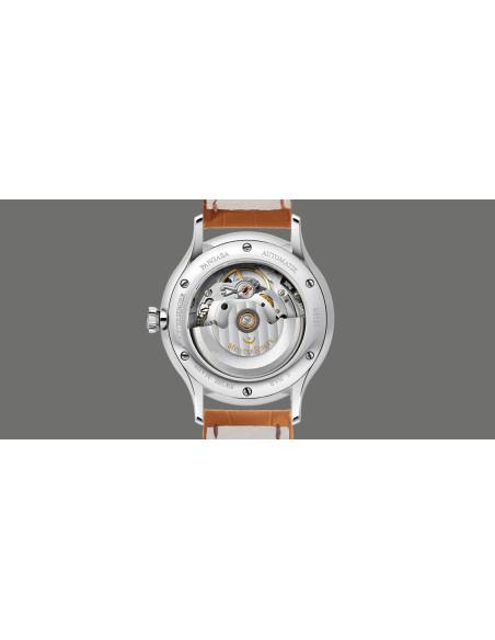 Meistersinger Pangaea Day - Date quadrante Avorio - acciaio su cinturino in pelle - 40 mm - ref. PDD903