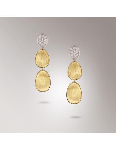 Marco Bicego Lunaria Diamanti Orecchini in oro giallo ref: OB1465-B