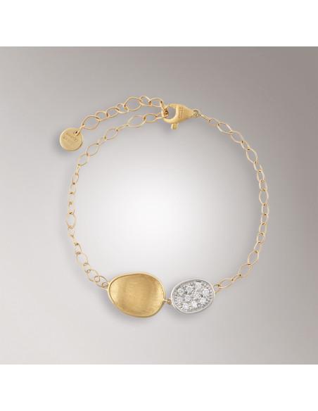 Marco Bicego Lunaria Diamanti Bracciale oro giallo ref: BB1965-B