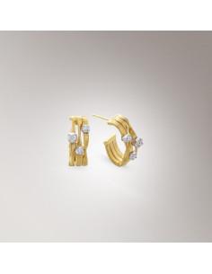 Marco Bicego Marrakech Orecchini oro giallo e diamanti ref: OG207-B1
