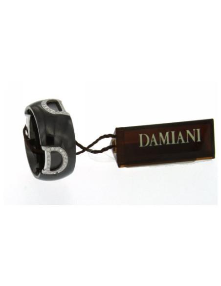 Damiani DIcon ANELLO IN CERAMICA NERA, ORO BIANCO E DIAMANTI (ct. 0,21) Ref. 20045898
